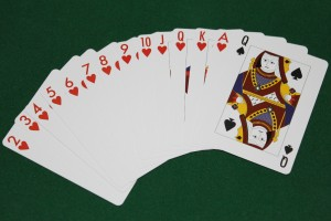 The thirteen hearts and the queen of spades