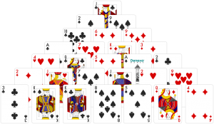 Pyramid solitaire layout