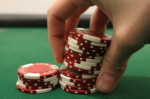 Sizing into a chip stack