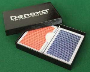 Denexa 100% Plastic Playing Cards, in box