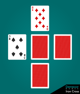 Iron Cross poker layout