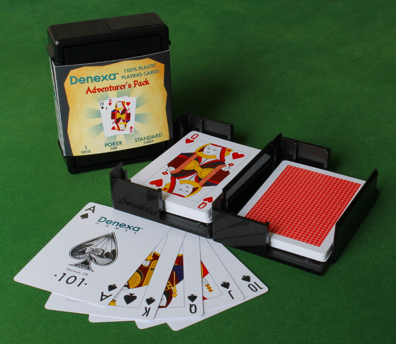 Denexa 100% Plastic Playing Cards: Adventurer's Pack