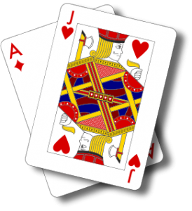 Ace of Diamonds and Jack of Hearts