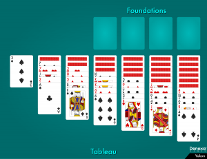 Yukon solitaire layout