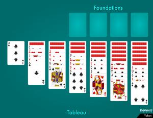 Yukon solitaire layout